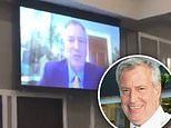 Mayor Bill de Blasio delivers high-pitched campaign speech due to audio glitch