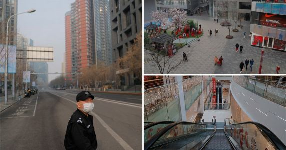 Eerily empty streets as coronavirus panic grips Chinese cities