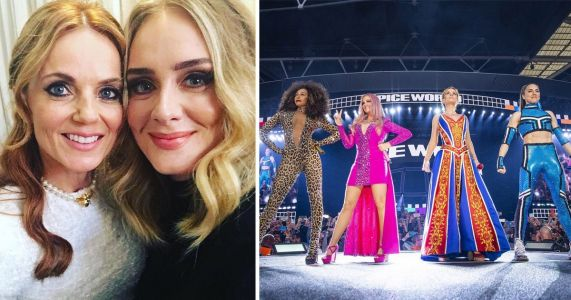 Adele joins Spice Girls backstage on final night of reunion tour