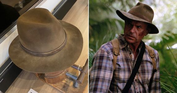 Sam Neill gets fans all excited as he reunites with Jurassic Park hat to begin filming for new movie