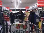 Shoppers fight over food in supermarket within Italy's 'red zone'