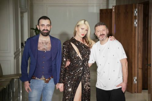 Caprice Bourret hits the runway for London Fashion Week as Hamish Gaman drops out of DOI