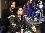 Keanu Reeves and Carrie-Anne Moss transform into iconic characters Neo and Trinity for The Matrix 4