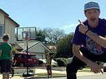 California family beats lockdown boredom with amazing basketball tricks
