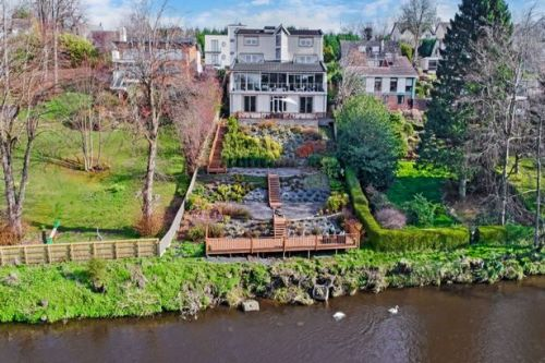 Luxury home that towers over the River Clyde comes with hot tub and cinema
