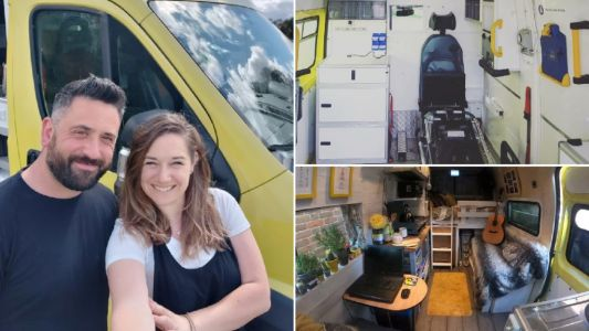 Man turns old ambulance into luxury tiny home for £7k