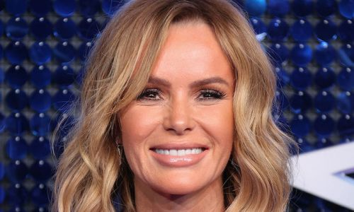 Amanda Holden's lacy mesh skirt is a work of art, seriously