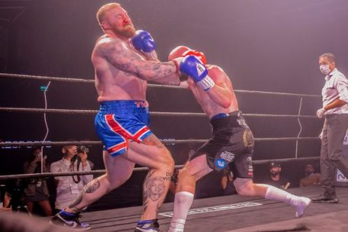 Hafthor Bjornsson left bloodied after boxing debut ahead of Eddie Hall fight