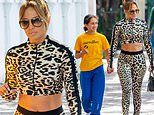 Jennifer Lopez flaunts toned tum for lunch with daughter Emme. after their Super Bowl performance