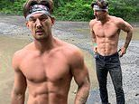Tyler Cameron flashes his chiseled abs as he writes about finding his 'own way' on a shirtless hike