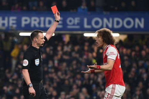 Chelsea official account mocks David Luiz after red card blunder