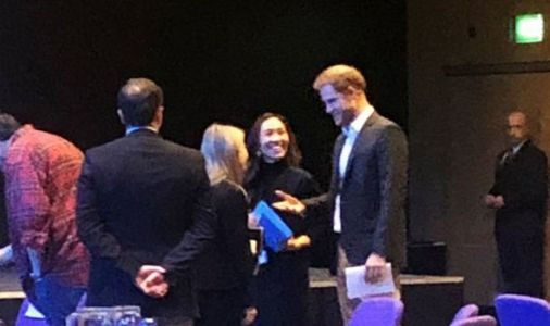 Prince Harry smiles as he kicks off final round of engagements as working royal