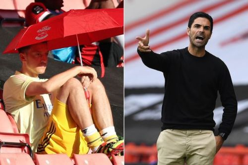 Mikel Arteta's damning response to Ozil question after Arsenal loss at Spurs