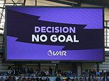 Manchester City are denied yet another late goal against Tottenham by VAR in stoppage time