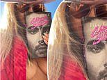 Heidi Klum goes topless underneath a hot pink jacket as she promotes her brother-in-law new book