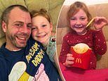 Doting dad is branded brilliant after he makes a homemade happy meal for his daughter