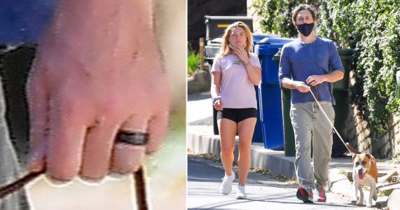 Zach Braff spotted wearing band on ring finger on stroll with girlfriend Florence Pugh in wake of marriage rumours