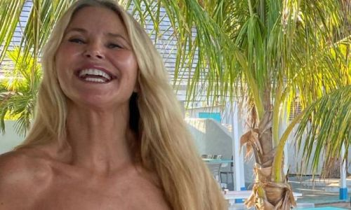 Christie Brinkley wears all-black swimsuit as she unveils surprising skill
