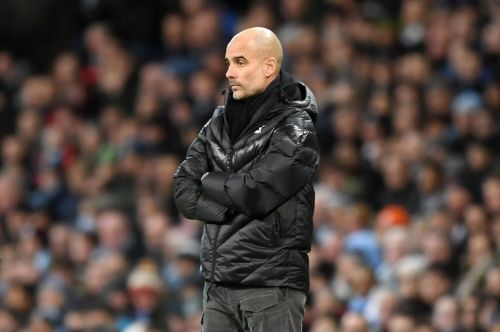Fans call for PepOut as Man City go TWO goals down to rivals Man Utd and lose ground on Liverpool in the title race