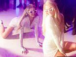 Paris Hilton writhes around on the floor as she shows off her sexiest dances moves at 39th birthday
