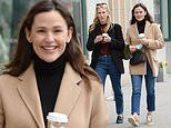 Jennifer Garner flashes a smile as she enjoys a brisk Fall stroll with a pal in New York City