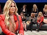 Kim Zolciak stands out in red at first annual BravoCon with Andy Cohen