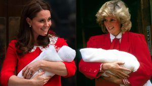 There's a spooky theory about Kate Middleton's outfit to introduce Prince Louis