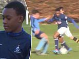 Video shows Callum Hudson-Odoi's incredible skills for school team as 14-year-old