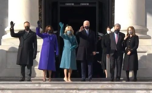 Joe Biden and Kamala Harris arrive at US Capitol for presidential inauguration