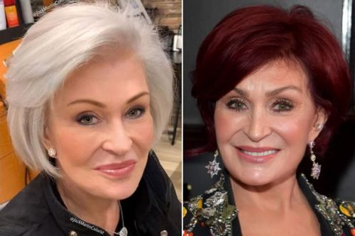 Sharon Osbourne debuts white hair after dyeing it red every week for 18 years