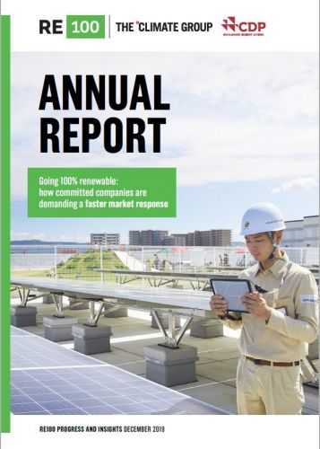 Going 100% renewable: 2019 RE100 Progress and Insights Annual Report