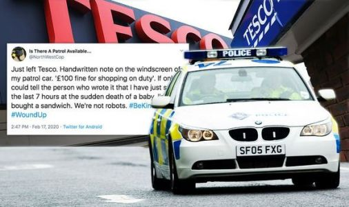 Police officer who spent hours attending sudden death of a baby left angry note on car