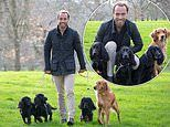 Man's best friend! James Middleton poses with his beloved hounds to announce Crufts finalists
