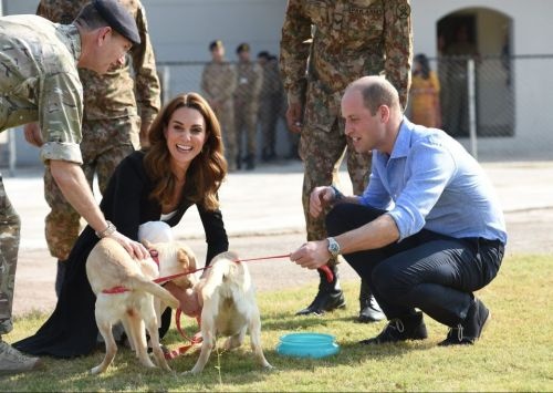 Kate Middleton and Prince William end their Pakistan tour with a visit to army dog centre in Islamabad