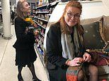Sarah Ferguson shares snaps of a low-key day of shopping at Waitrose and sewing on the sofa