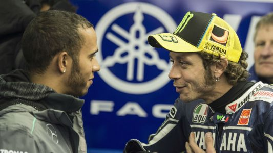 F1: Lewis Hamilton may swap Mercedes F1 car for Valentino Rossi's MotoGP bike