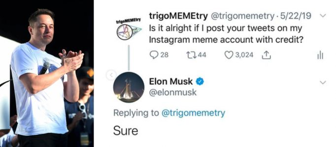 Meme theft has become the norm. This high schooler is trying to change that with 'credit flexes' from Elon Musk and Lil Nas X