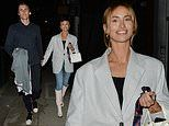Ferne McCann cuts a chic figure in an grey blazer on a date night with her boyfriend Jack Padgett