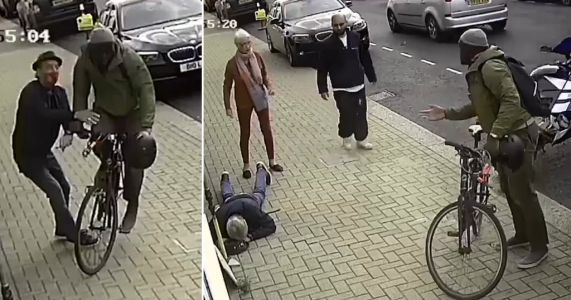 Police worker who slammed bike into pensioner on pavement fined £30