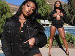 Megan Thee Stallion flaunts her eye-popping curves in VERY skimpy denim shorts