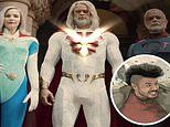 Josh Duhamel is nearly unrecognizable as an aging superhero in Jupiter's Legacy