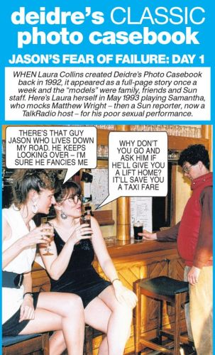 Jason's lack of experience with women embarasses him in front of Samantha - Deidre's Photo Casebook
