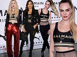 Cara Delevingne flaunts her taut midriff in sporty chic look at Puma x Balmain launch in LA