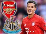 Philippe Coutinho 'offered to Arsenal and Newcastle as Barcelona look to free up funds'
