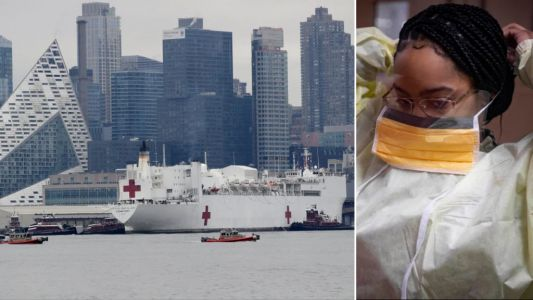 US Navy nursing ship lands in NYC to handle non-coronavirus patients