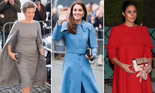 The caped crusaders! Kate Middleton, Meghan Markle and more rocking chic capes