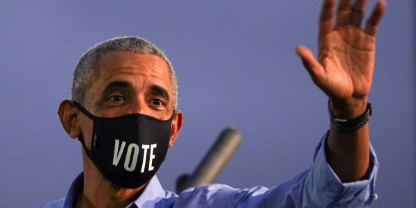 Obama said politics will be less exhausting if Biden wins, and it's a compelling closing pitch to voters