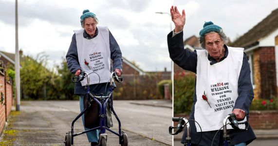 104-year-old woman boasts she's 'older and walking further' than Captain Tom