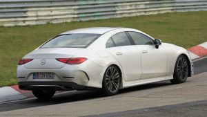 New 2022 Mercedes CLS facelift spied at the Nurburgring