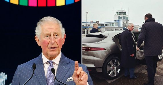 Prince Charles arrives at Davos in electric car 'after taking private jet'
